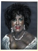 Actors Pastels - Elizabeth Taylor by Tony Calleja
