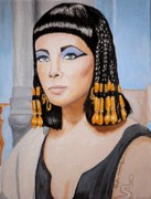 Elizabeth Taylor Paintings - Elizabeths Cleopatra  by Al  Molina