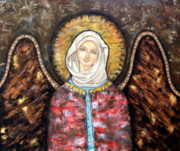 Christian Art . Devotional Art Paintings - Elizaveta by Rain Ririn