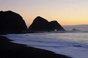 Haystack Rocks Prints - Elk Beach California Print by Bob Christopher