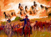 Ted Azriel - Elk Horse Round Up