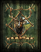 Jq Metal Prints - Elk Lodge Metal Print by JQ Licensing