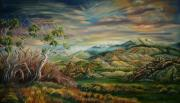 Wyoming Paintings - Elk Mountain Sunrise by Dawn Senior-Trask