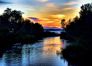 Elk Rapids Photos - Elk Rapids Sunset by Matthew Winn