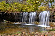 Indiana Autumn Posters - Elkhorn Falls Wayne County Indiana Poster by Marsha Williamson Mohr