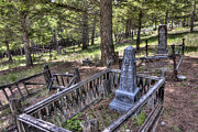 Miners Ghost Photos - Elkhorn Ghost Town Cemetery - Montana by Daniel Hagerman
