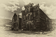Ghost Town Photo Posters - Elkhorn Ghost Town Gothic Public Hall Poster by Daniel Hagerman