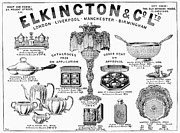 Silver Bowl Posters - Elkington & Co. Ltd., 1895 Poster by Granger