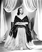 Mink Prints - Ella Raines, Circa 1940s Print by Everett