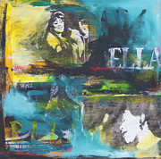 Trombone Mixed Media - Ella by Robin Lee