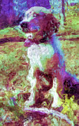 Puppies Digital Art Prints - Ella Print by Rora