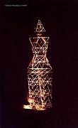 Lattice Tower Sculptures - Elle - humanoid pylon by Elena Paroucheva