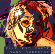 Death Digital Art Originals - Elle Est Morte Sans Surprise by Kevin  Sherf