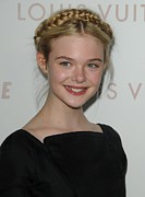 Updo Framed Prints - Elle Fanning At Arrivals For Somewhere Framed Print by Everett