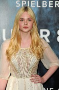 At Arrivals Prints - Elle Fanning At Arrivals For Super 8 Print by Everett