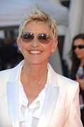 Red Carpet Prints - Ellen Degeneres In Attendance Print by Everett