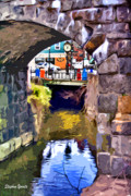 Maryland Digital Art - Ellicott City Bridge Arch by Stephen Younts