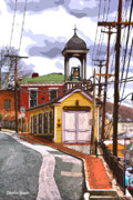 Ellicott Digital Art - Ellicott City Fire Museum by Stephen Younts