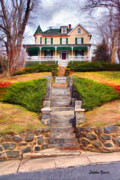 Md Digital Art - Ellicott City House by Stephen Younts