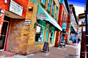 Md Digital Art - Ellicott City Shops by Stephen Younts