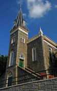 Ellicott Prints - Ellicott City Steeple Print by Murray Bloom