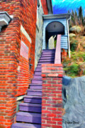 Frederick Digital Art Posters - Ellicott City Steps Poster by Stephen Younts