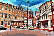 Ellicott Framed Prints - Ellicott City Streets Framed Print by Stephen Younts