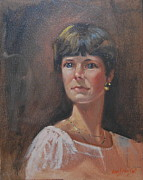 Gold Necklace Painting Framed Prints - Ellie Mae 2 Framed Print by Len Stomski