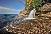 Water Over Rock Photos - Elliot Falls by John McCormick