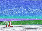 Washington D.c. Pastels - Elliott Bay Sail by Tim Allen