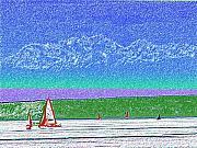 Elliott Bay Sail Print by Tim Allen