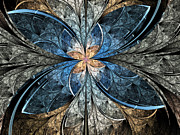 Gold Digital Art - Elliptic Butterfly by Pam Blackstone