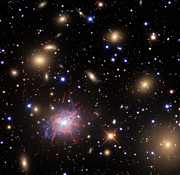Elliptical Galaxy Posters - Elliptical Galaxy Ngc 1275 Poster by R Jay GaBany