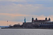 Liberty Island Digital Art - Ellis Island by Bill Cannon