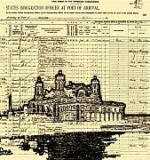 Ink Art - Ellis Island by Jeff DOttavio
