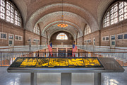 Registry Framed Prints - Ellis Island Registry Room I Framed Print by Clarence Holmes