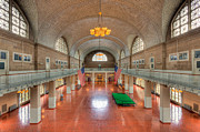 Tiled Ceiling Prints - Ellis Island Registry Room II Print by Clarence Holmes