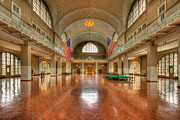 Tiled Ceiling Prints - Ellis Island Registry Room III Print by Clarence Holmes