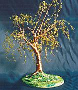 Trees Sculpture Originals - Elm on Lawn - Wire Tree Sculpture  by Sal Villano