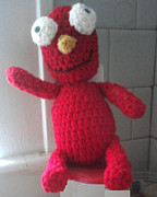 Stuffed Animal Toys Tapestries - Textiles - Elmo by Sarah Biondo