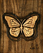 Butterfly Reliefs Prints - Eloquence Print by Sarah Ruth