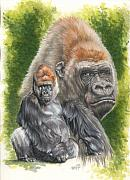 Gorilla Mixed Media Posters - Eloquent Poster by Barbara Keith