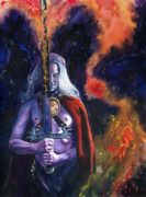 Comics Paintings - Elric by Ken Meyer jr