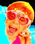 Elton John Paintings - Elton John by Elizabeth Coats