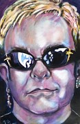 Elton John Painting Posters - Elton John Poster by Misty Smith