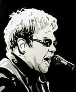 Elton John Painting Originals - Elton John by Sam Sakharia