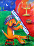 Beagle Puppies Paintings - Elton Max by Andrea Folts