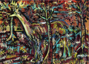 Image Mixed Media Prints - Elusive Print by Robert Wolverton Jr