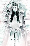 Princess Mixed Media Prints - Elven princess Print by Dean Bertoncelj