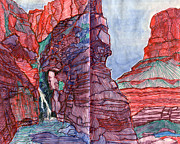 Grand Canyon Drawings - Elves Chasm by Scott Barnes